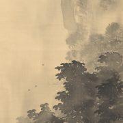 木島桜谷「水墨山水図」