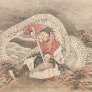 葛飾北斎「西漢皇帝斬蛇図」