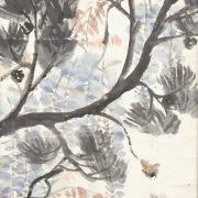 山口八九子「松に藤図」