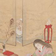 錦江筆「道鏡女帝を垣間みる図」