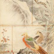 山本梅逸模写「枇杷に金鶏鳥-模写」