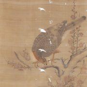 狩野内膳一翁「紅梅に鷹」
